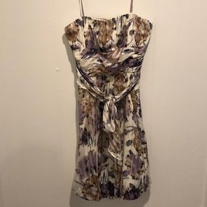 BCBGMaxazria multicolored strapless bubble dress